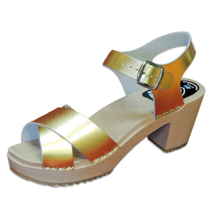 Treskosandal Ankle-Cross Gull-Metallic