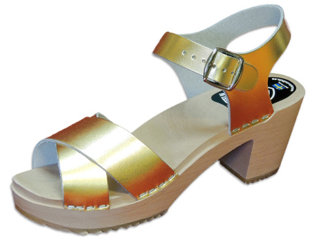 Treskosandal Ankle-Cross Gull-Metallic