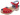 Treskosandal Butterfly Rød 5 cm