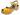 Treskosandal Butterfly Gul Matt 5 cm