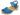 Treskosandal Butterfly Blå Nubuck