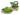 Treskosandal Butterfly Grønn Matt 5 cm